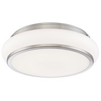 EuroFase 30141-018 Muir LED 15 inch Satin Nickel Flush Mount Ceiling Light Large