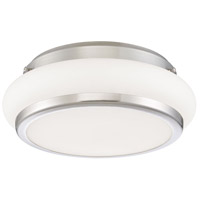 EuroFase 30142-015 Muir LED 12 inch Satin Nickel Flush Mount Ceiling Light Small