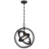 Orbita 1 Light 15 inch Bronze Pendant Ceiling Light