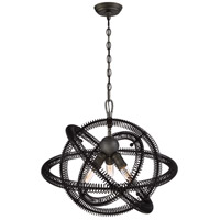 Orbita 3 Light 23 inch Bronze Pendant Ceiling Light