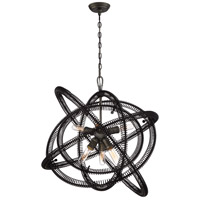 Orbita 6 Light 30 inch Bronze Chandelier Ceiling Light