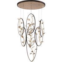 EuroFase 31392-013 Peralta LED 39 inch Bronze Chandelier Ceiling Light