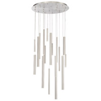 EuroFase 31445-025 Santana LED 24 inch Satin Nickel Chandelier Ceiling Light