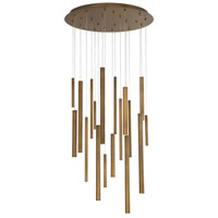 Santana LED 24 inch Brass Chandelier Ceiling Light