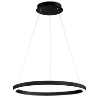 EuroFase 31471-027 Spunto LED 28 inch Matte Black Chandelier Ceiling Light