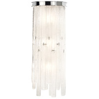 Candice 3 Light 9 inch Polished Chrome Wall Sconce Wall Light