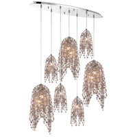 EuroFase 31618-014 Danza 10 Light 12 inch Chrome Chandelier Ceiling Light