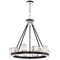 Barile 8 Light 12 inch Polished Chrome Chandelier Ceiling Light