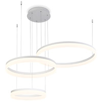EuroFase 31779-012 Minuta LED 48 inch Sand White Chandelier Ceiling Light