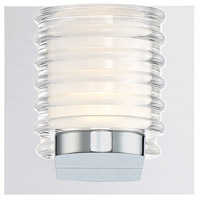 EuroFase 31789-011 Ancona LED 5 inch Chrome Vanity Light Wall Light