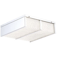 EuroFase 31810-012 Wynn LED 12 inch Chrome Flush Mount Ceiling Light