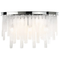 EuroFase 31826-013 Candice 5 Light 22 inch Chrome Wall Sconce Wall Light