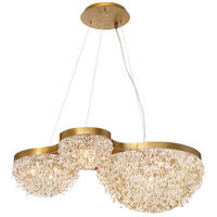 Mondo 10 Light 23 inch Antique Gold Chandelier Ceiling Light