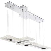 EuroFase 31833-011 Zucchero LED 21 inch Crystal Chandelier Ceiling Light