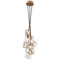 EuroFase 31834-018 Patton 3 Light 8 inch Bronze Pendant Ceiling Light