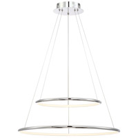 EuroFase 31856-010 Valley LED 24 inch Chrome Pendant Ceiling Light