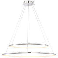 Valley LED 32 inch Polished Chrome Pendant Ceiling Light