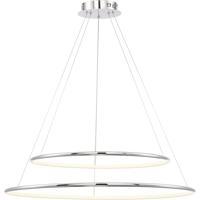 EuroFase 31861-014 Valley LED 32 inch Chrome Pendant Ceiling Light