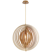 Abruzzo 1 Light 23 inch Wood Pendant Ceiling Light