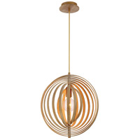 EuroFase 31874-014 Abruzzo 1 Light 17 inch Wood Pendant Ceiling Light