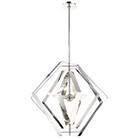 EuroFase 31886-017 Downtown 3 Light 27 inch Chrome Chandelier Ceiling Light