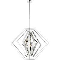 EuroFase 31887-014 Downtown 6 Light 33 inch Chrome Chandelier Ceiling Light