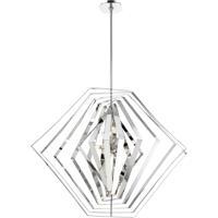 EuroFase 31888-011 Downtown 10 Light 45 inch Chrome Chandelier Ceiling Light