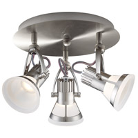 EuroFase 32753-011 Vortex 3 Light 120V Satin Nickel Track Ceiling Light