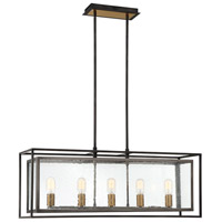 EuroFase 33696-010 Affilato 5 Light 10 inch Black Chandelier Ceiling Light