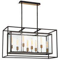 EuroFase 33697-017 Affilato 8 Light 16 inch Black Chandelier Ceiling Light