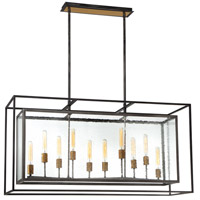 EuroFase 33698-014 Affilato 10 Light 16 inch Black Chandelier Ceiling Light