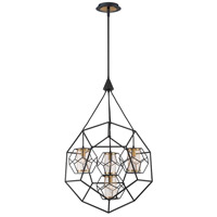 EuroFase 33701-011 Bettino 4 Light 25 inch Black Chandelier Ceiling Light