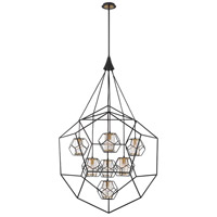EuroFase 33702-018 Bettino 7 Light 38 inch Black Chandelier Ceiling Light