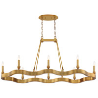 EuroFase 33710-020 Leyton 8 Light 21 inch Antique Brass Chandelier Ceiling Light