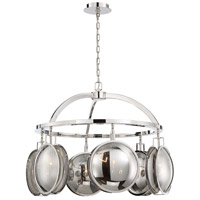 EuroFase 33712-017 Havendale 6 Light 30 inch Polished Nickel Chandelier Ceiling Light