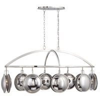 EuroFase 33713-014 Havendale 8 Light 27 inch Polished Nickel Chandelier Ceiling Light