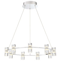 EuroFase 33724-010 Netto LED 25 inch Chrome Chandelier Ceiling Light