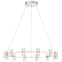 Netto LED 33 inch Chrome Chandelier Ceiling Light