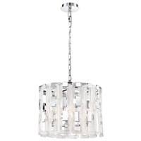 EuroFase 33744-018 Viviana 4 Light 18 inch Chrome Chandelier Ceiling Light
