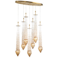 EuroFase 33748-016 Cascata 7 Light 6 inch Polished Gold Chandelier Ceiling Light