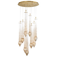 EuroFase 33749-013 Cascata 9 Light 36 inch Bronze Chandelier Ceiling Light