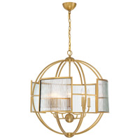 EuroFase 33848-020 Manilow 8 Light 26 inch Brass Chandelier Ceiling Light