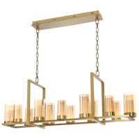 Londra LED 13 inch Brass Chandelier Ceiling Light