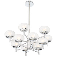 EuroFase 34045-015 Burlington 12 Light 28 inch Chrome Chandelier Ceiling Light