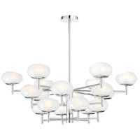 EuroFase 34046-012 Burlington 18 Light 38 inch Chrome Chandelier Ceiling Light