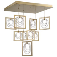 Corinna LED 32 inch Silver Chandelier Ceiling Light