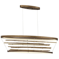 EuroFase 34060-018 Bobina LED 13 inch Bronze Chandelier Ceiling Light