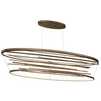 EuroFase 34061-015 Bobina LED 17 inch Bronze Chandelier Ceiling Light