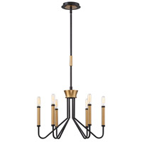 EuroFase 34070-017 Rado 6 Light 19 inch Black Chandelier Ceiling Light