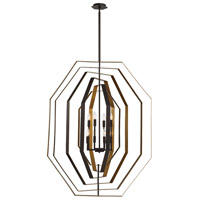 EuroFase 34077-016 Montcalm 8 Light 38 inch Bronze Chandelier Ceiling Light